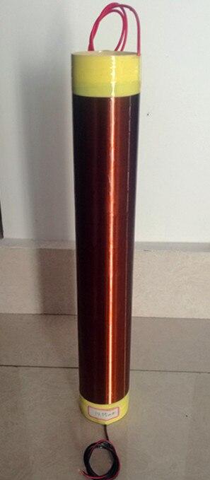 Bobine Tesla diamètre 5 cm, hauteur 33.5 cm