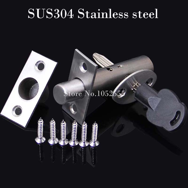 ФОТО High Quality 304 stainless steel tubewell lock channel door latch lock aisle invisible door lock Mortise locks Free Shipping K21