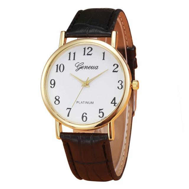 e2c2ccc3a029 Genvivia часы Для мужчин кварцевые наручные часы Бизнес Дизайн кожаный  ремешок Для мужчин аналоговый Wathes браслет