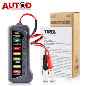 12V Car Battery Tester Digital Capacity Tester Checker 12 Volt Battery Measuring Power Analyzer Tool with 6 LED Light Display(China)