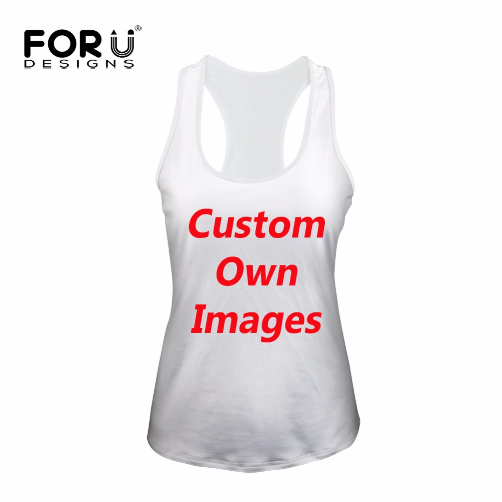 FORUDESIGNS Custom Women Tank Tops Summer Bodybuilding Crop Top Cute Printed Fashion Breathable Ladies Sleeveless Tshirts Vest