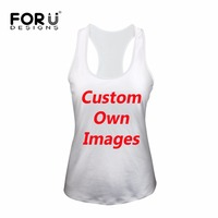 FORUDESIGNS Custom Women Tank Tops Summer Bodybuilding Crop Top Cute Printed Fashion Breathable Ladies Sleeveless Tshirts