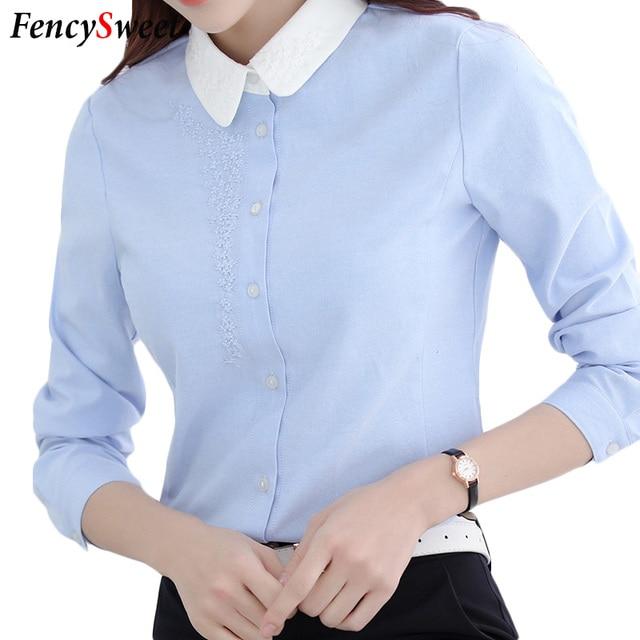 7df949985a43 € 15.78 |Elegantes Mujeres Blusa Formal Uniformes de Oficina para Damas  Ropa de Trabajo Camisas de Manga Larga de Moda de Corea Carrera Tops Más El  ...