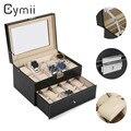 Cymii 20 Rejillas de Reloj de Cuero de LA PU Organizador Del Caso de Exhibición Joyero de Almacenamiento caja Organizador Cuadro Titular de Regalos reloj Elegante Reloj