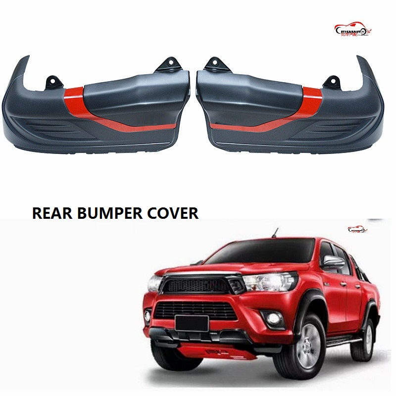 CITYCARAUTO FOR HILUX REVO BODY KITS 4X4 AUTO ACCESSORIES REAR BUMPER COVER FIT FOR HILUX REVO PICKUP CAR 2015-2017 body kits front bumper parts rear diffuser car accessories for ford mustang coupe 2015 2017