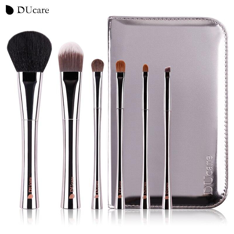DUcare 6 pz pennello trucco professionale make up brush set con di alta qualità di lusso sacchetto compone le spazzole con il sacchetto di trasporto libero