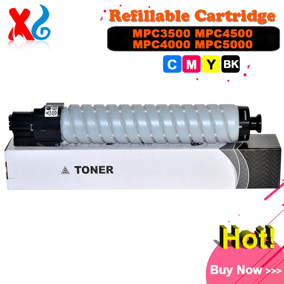 CMYK Japan Toner Powder for Ricoh Aficio MPC4000 MPC5000 MPC3500 MPC4500 MP C3500 C4500 C4000 C5000 Toner Cartridge Copier Parts 4pcs mpc4000 developer for ricoh mp c2800 c3300 c4000 c5000 copier spare parts