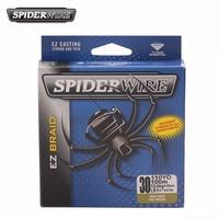 Spiderwire ez 110yd 100 m 꼰 pe 낚시 라인 테스트 10/15/20/30lb 짙은 녹색 슈퍼 부드러운 꼰 와이어 pescaria linha de pesca