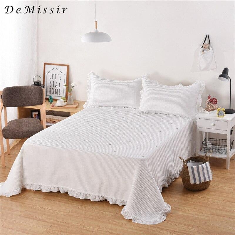 DeMissir Washed Cotton 3pcs Set Spring Vertical Stripes