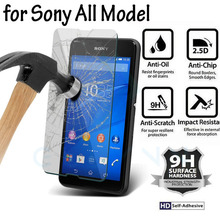 ON SALE 2.5D 0.26mm 9H Hardness Screen Protector Tempered Glass For Sony Xperia Z1 2 3 4 5  M4 M5 C3 Protective film