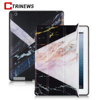 CTRINEWS Smart Flip Case For IPad 2 3 4 Luxury Marble PU Leather Case Soft Silicone