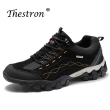 Thestron 2019 New Trend Men Outdoors Brand Shoes Khaki Black Sport Sneakers Non-Slip Trecking Shoe Comfortable Male Hiking