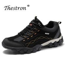 Thestron 2019 New Trend Men Outdoors Brand Shoes Khaki Black Sport Sneakers Non-Slip Trecking Shoe Comfortable Male Hiking