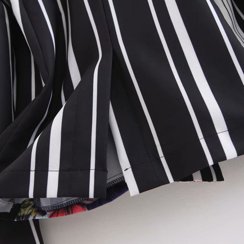 WT626 Breetrendy frauen vintage gestreiften floral print blazer damen retro langarm streewear blazer casual outwear