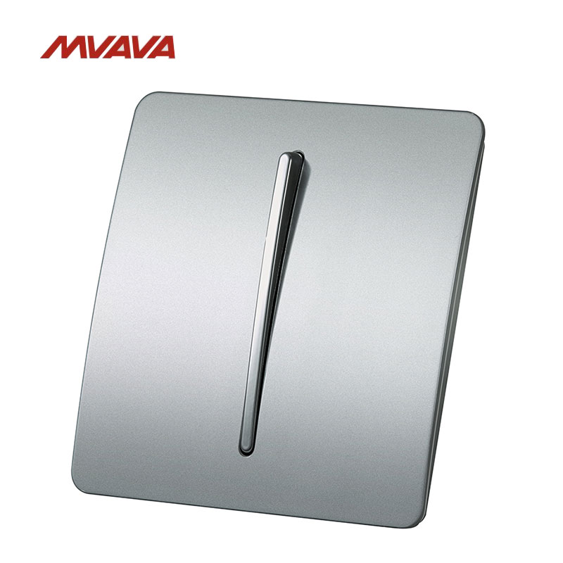 MVAVA 16A 1 Gang 2 Way Light Wall Switch AC100V-250V Light Control Wall Decorative Push Button Luxury PC Panel Free Shipping mvava push button light wall switch 3 gang 1 way 16a 250v luxury white crystal glass panel factory direct sale free shipping