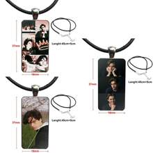 American Tv Riverdale Series Cole Sprouse Glass Cabochon Pendant Necklace Rectangle Fashion Necklace For Unisex Gift(China)
