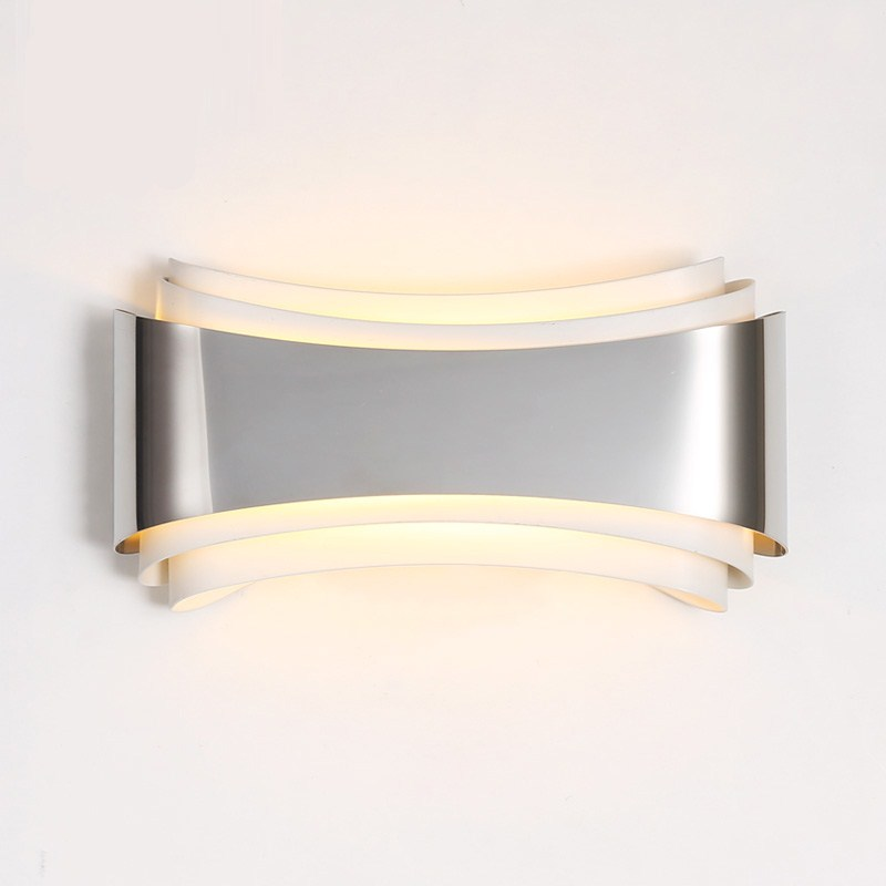 Creative Fashional Modern Led Wall Lights for Bedroom Study Room  Stainless Steel Hardware 5W Fashion Home Decoration Wall Lamp shadow projection lamp creative 201 essential button type stainless steel led home furnishing decoration