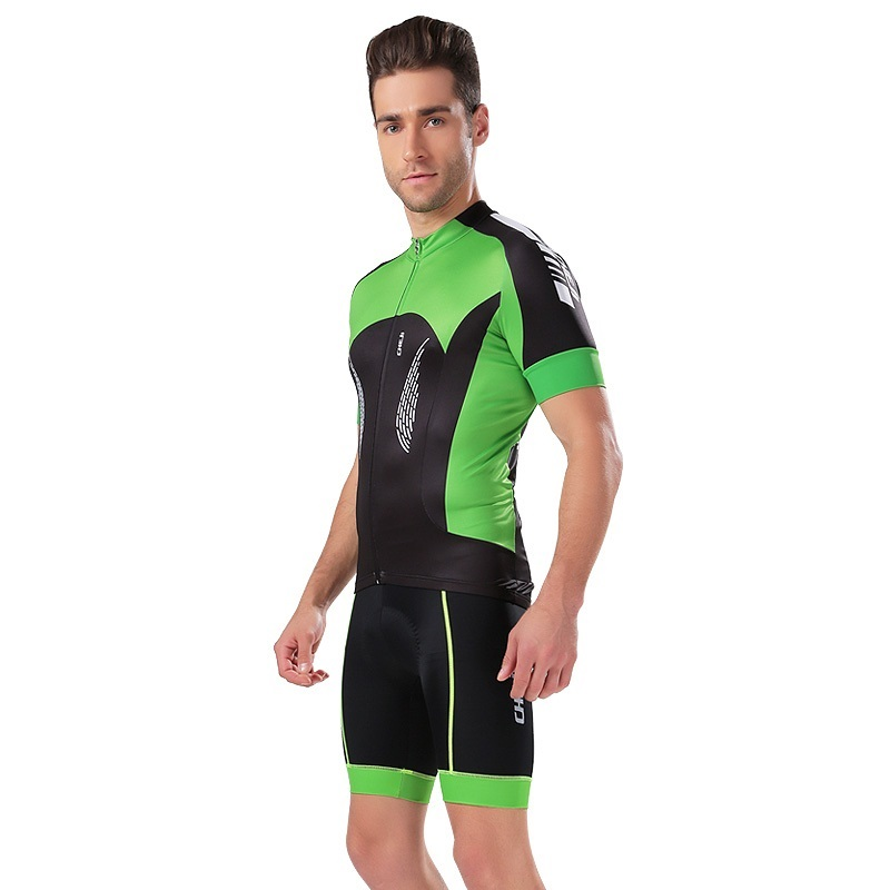 2017 Pro Cycling Jerseys Set Maillot Ropa Ciclismo Green Mountain Bike Sportswear Racing Bicycle Clothing KTM Jersey For Mans