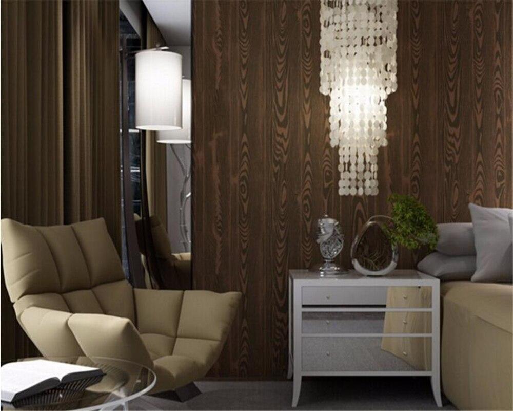 Papier Peint Pour Bureau €29.6 36% de réduction|beibehang bois grain papier peint pour salon chambre  mur papier rouleau bureau tv fond papier peint pour murs 3 d
