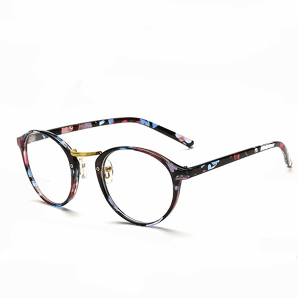 770c8dfb3923d6 Femmes Vintage Lunettes Cadre Plaine Miroir Grand Rond En Métal Optique  Cadre Lunettes Objectif Clair oculos feminino de grau