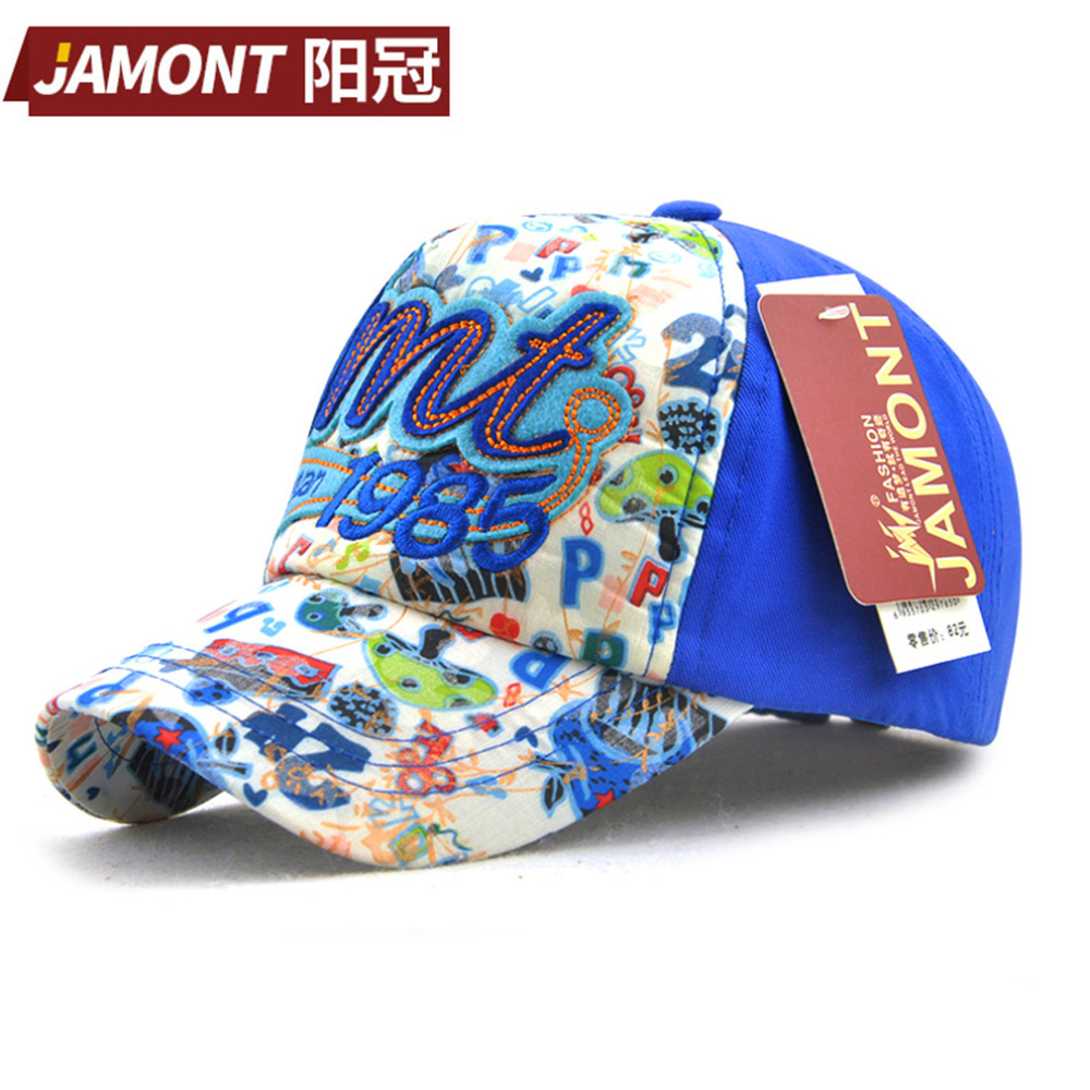 Korean Cartoon Children Kid Cotton Baseball Cap Lovely Girls Letter Printed Sun Shade Cap Hat Unconstructed Fashion Unisex Cap