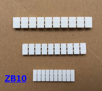 ZB10 accesorios de bloque de terminales Barra de marca de etiqueta rápida para UK10N UK16N UK35N terminal de resorte ZB10 en blanco