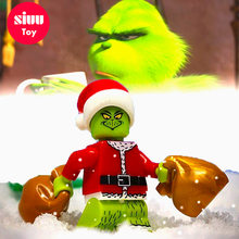 Grinch Christmas princess Building Blocks Batman Spiderman Compatible LegoING Mini People Christmas Gifts for Children Toys YF30(China)