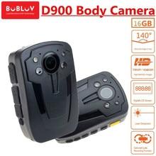 BOBLOV Body Worn Police Camera D900 Novatek 96650 16GB HD1080P Mini Camcorder Wearable Cam  IR Night Vision Video Audio Recorder