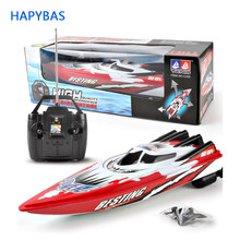 4 channels RC Boats Plastic Electric Remote Control Speed Boat Twin Motor Kid Chirdren Toy(China)