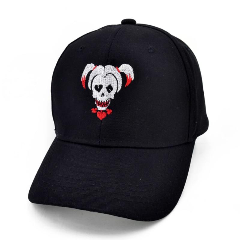Suicide Squad Harley Quinn Joker Embroidery Baseball Cap Fashion Men And Women Hip-hop Cap Suicide Squad Hats
