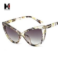SHUAN 10 Colors Fashion Ladies Cat Eye Sunglasses Brand Designer Vintage Women Clear Lens Eyewear UV400