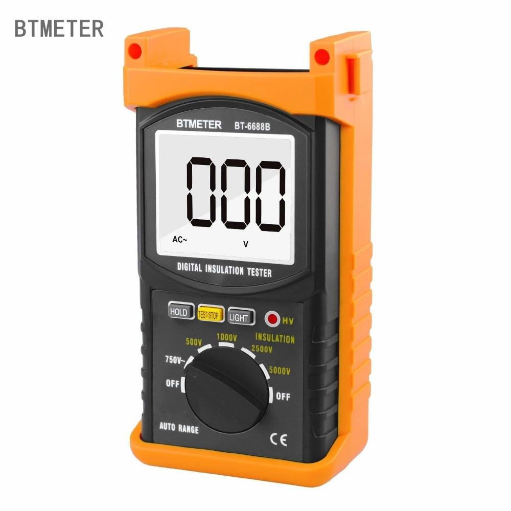 Digital Insulation Resistance Tester BTMETER BT 6688B,Test Voltage 5000V, Resistance 200Gohms,High Voltage Indication