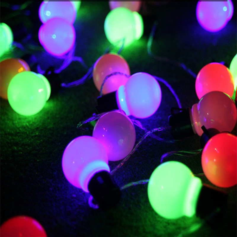 5cm Big Size LED Christmas Decorative Ball String Lamps Luminarias 10m Curtain Lights for fairy wedding Outdoor Holiday lighting 30m 300 led 110v ball string christmas lights new year holiday party wedding luminaria decoration garland lamps indoor lighting
