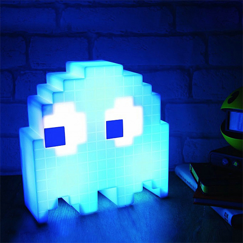 Image 4 - Color Change Cartoon luminarias dj Led glow USB Night Light 8 bit mood light Pixel pacman Child Baby Soft Lamp Bedroom Lighting-in Night Lights from Lights & Lighting