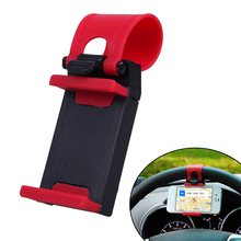 Car Steering Wheel Mount Holder for Phone Automobiles Rubber Band Support Bracket suporte