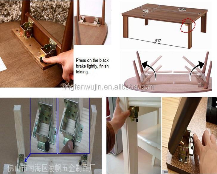 90 Degrees Self Lock Folding Table Legs Hinge Metal Braces For Wood