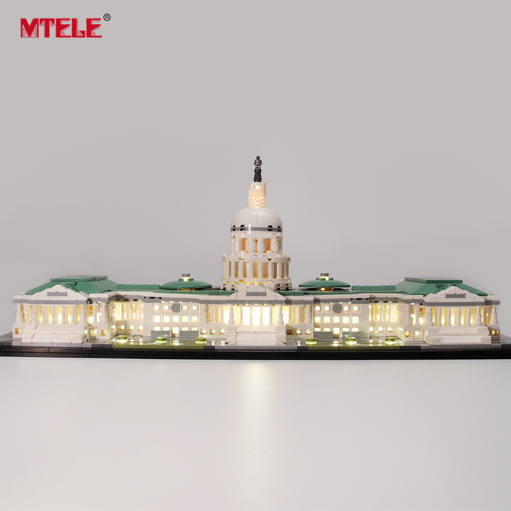 MTELE Brand LED Light Up Kit For Architecture United States Capitol Lighting Set Compatile With 21030 (Model NOT Included)