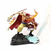 Anime One Piece WHITEBEARD Pirates Edward Newgate Battle Vs Sakazuki Gk Statue Action Figure Model Toys