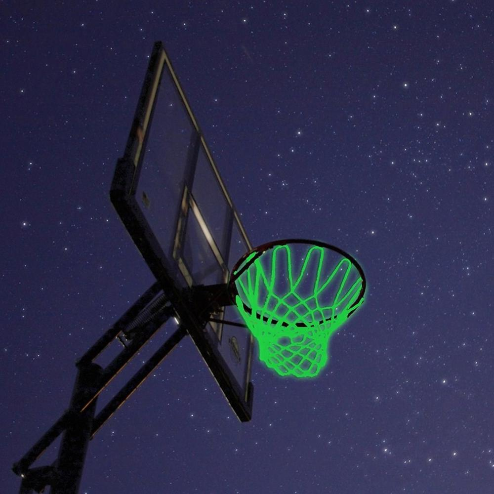 Outdoor Light Up Basketball Net Heavy Duty Replacement Shooting Trainning Glowing Light Luminous Basketball Net