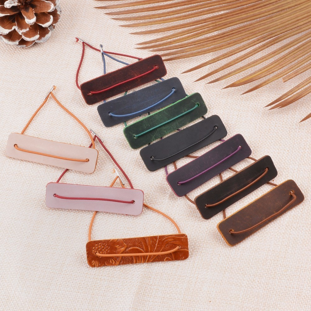 Genuine Leather Notebook Colser Protective Leather Piece With Repair Rubber Band For Handmade Travel Journal Accessories