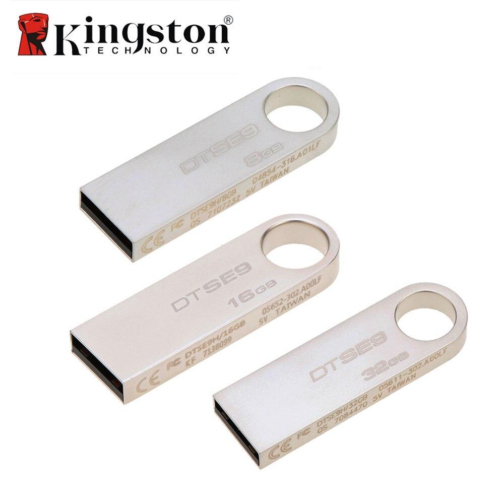 Hot Sales Kingston 8GB 16GB 10 MB/s High Speed Data Transfer USB 2.0 Metal Flash Pen Drive U Disk External Storage Memory Stick