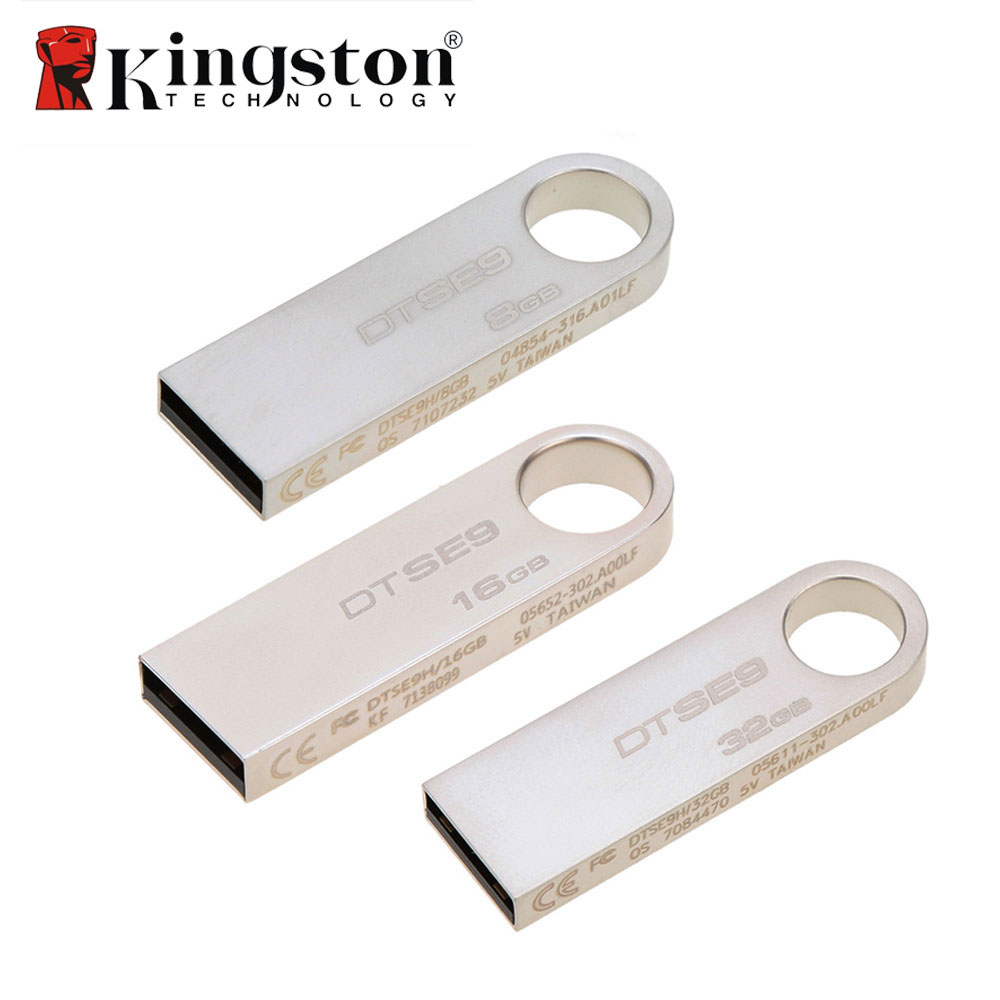 Vendite calde Kingston 8 gb 16 gb 10 mb/s Ad Alta Velocità di Trasferimento Dati USB 2.0 del Metallo Flash Pen Drive U disco Bastone di Memoria di Archiviazione Esterna
