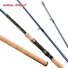 AMA-Fish 100% Original Brand Spinning Rod 3.3m Lure Rod 3+3 Sections Carbon M Action FishingTools 90g Spinning Fishing Rod
