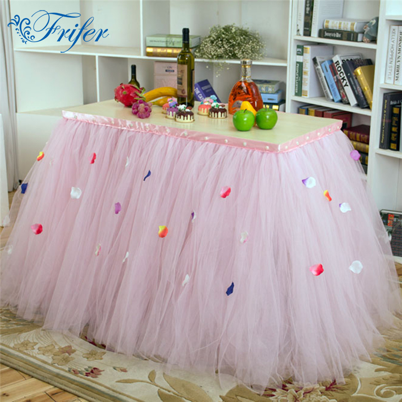Kvalitetne zabave Tulle Stolne suknje Dječji tuš dekor Fantastična - Tekstil za kućanstvo