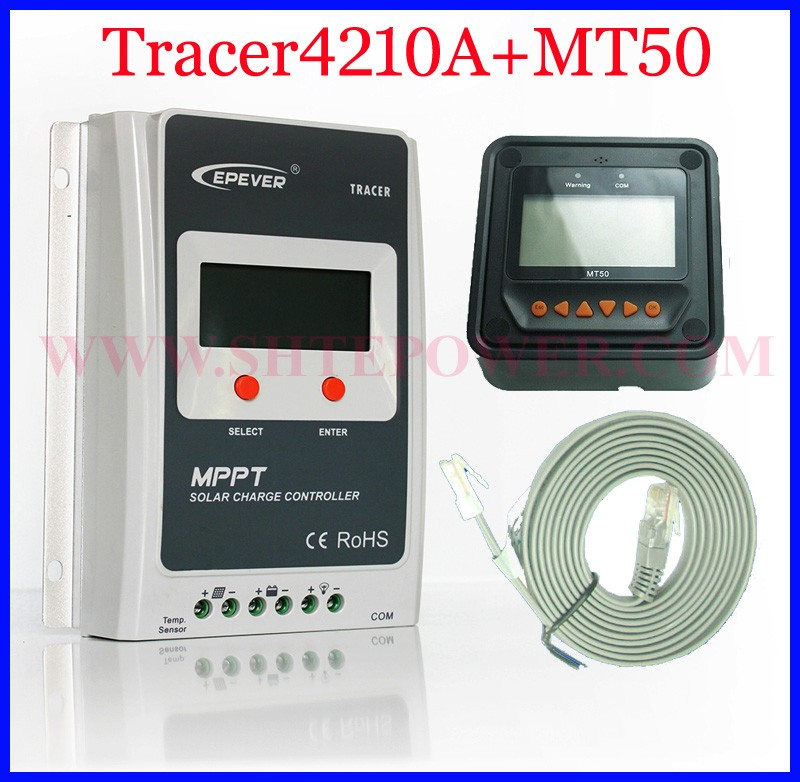 New tracer4210A 100% EPsolar real mppt 12v 24v solar charge controller 40a