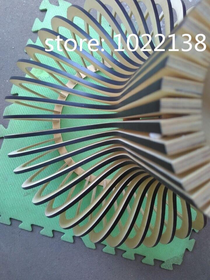 Preto moderno lâmpada Pingente de luz Gaiola De Madeira E27 norbic deco home de bambu tecelagem Pingente de madeira lâmpada - 6