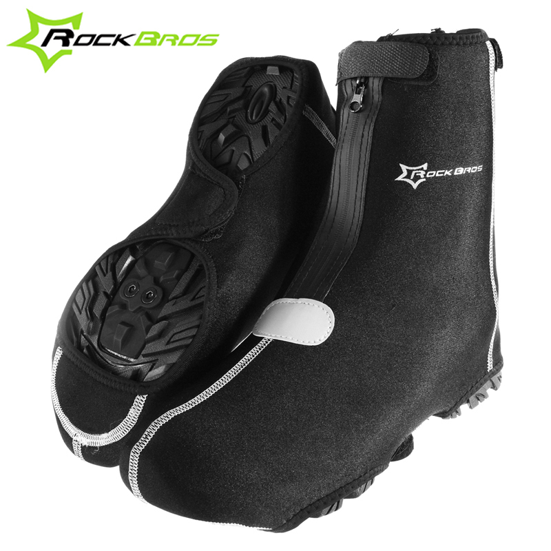 ROCKBROS 5MM Thick Wetsuit Fabric Mountain Road Bike Riding Warm Waterproof Lock Shoes Over Shoe Cover 1 Pair Bicycle Equipment