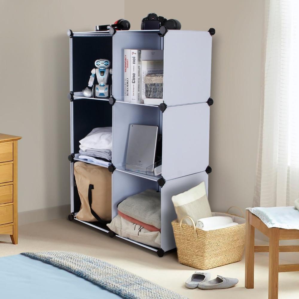6 Cube Organizer Cool Storage Cabinet Hoohi Tier Shelf