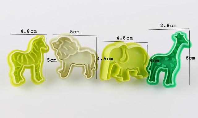 Cartoon Animal Shaped Cookie Molds Set