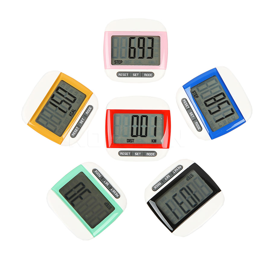 Mini Waterproof Step Movement Calories Counter Multi-Function Digital LCD Pedometer Sports Walking Exercise Distance Calculation